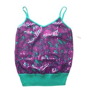 VERSACE sexy & fun sequined wool knit tank